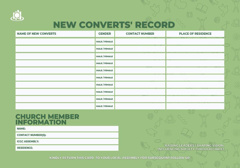 new converts record